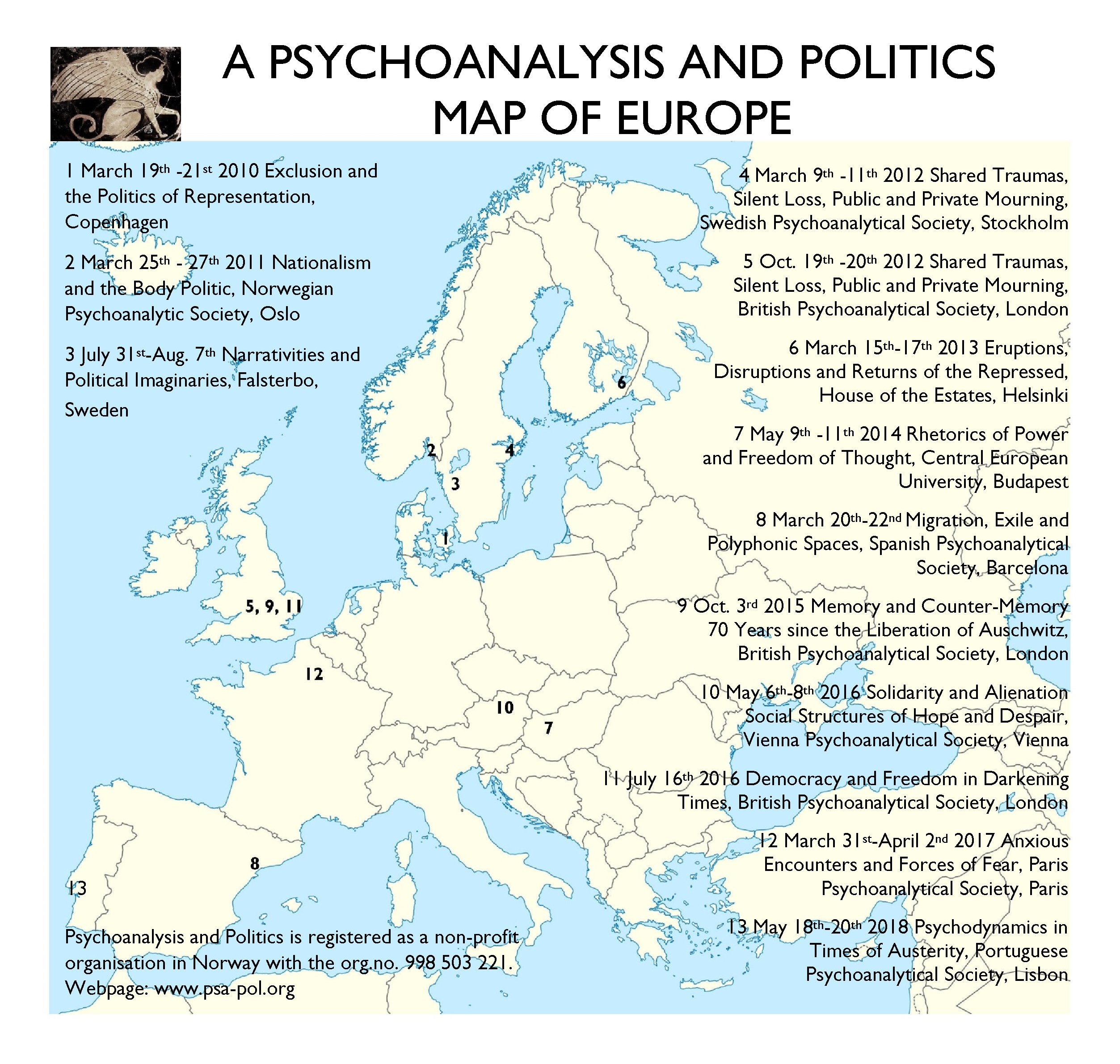 A PSYCHOANALYSIS AND POLITICS MAP OF EUROPE-2018